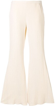 Rosetta Getty Textured Flared Trousers