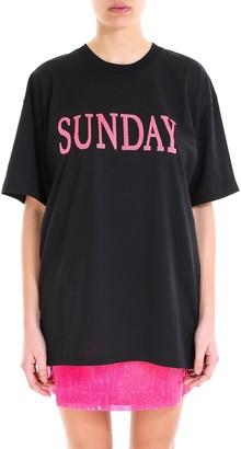 Alberta Ferretti Sunday Sequin Embroidered T-Shirt