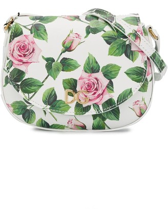 Dolce & Gabbana Kids Tropical Rose Print Shoulder Bag