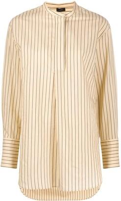 Joseph Aubrey mock collar tunic shirt