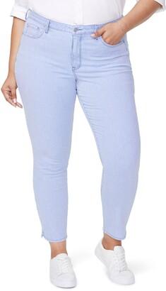 NYDJ Alina Stripe Side Slit Stretch Skinny Jeans