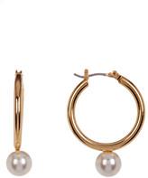 Trina Turk 25mm Imitation Pearl Drop Hoop Earrings