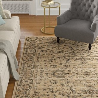 """Bungalow Rose Albata Ivory/Brown Rug Rug Size: Rectangle 4' x 5'6"""""""