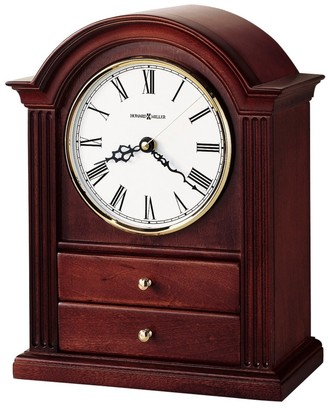 Howard Miller Kayla Classic, Traditional, Transitional, Chiming Mantel Clock with Drawers and Silence Option, Reloj del Estante