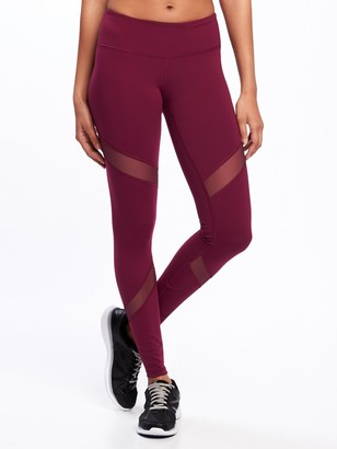 Old Navy Mid-Rise Mesh-Panel Elevate Compression Leggings for Women