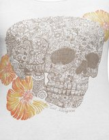 True Religion Trese Flower Skull Ribbed Womens Tank