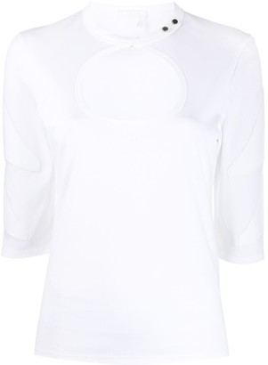 Chloé Keyhole Cut-Out Top