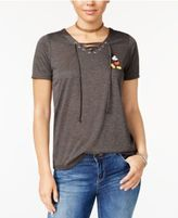 Disney Juniors' Mickey Mouse Lace-Up Graphic T-Shirt