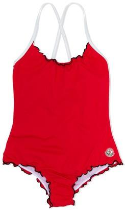 Moncler contrast-trim swimsuit
