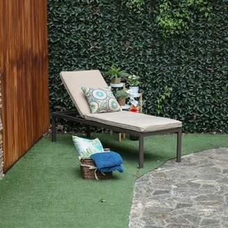 BEIGE Latitude Run Kirstine Chaise Lounge with Cushion Latitude Run Cushion Color