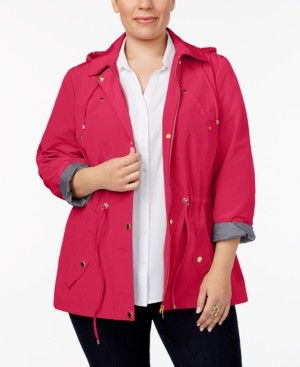 Charter Club Plus Size Water-Resistant Utility Jacket, Created for Macy's