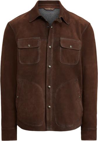 Ralph Lauren Nubuck Leather Shirt Jacket