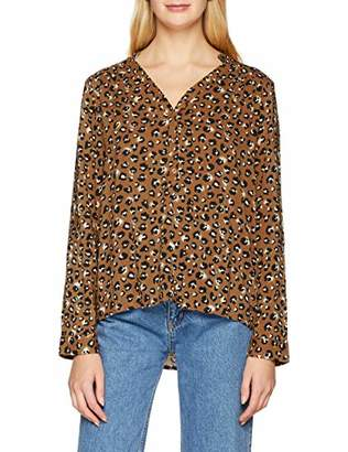 S'Oliver Women's 21.810.11.2247 Blouse, (Chinese Red AOP 31A1)