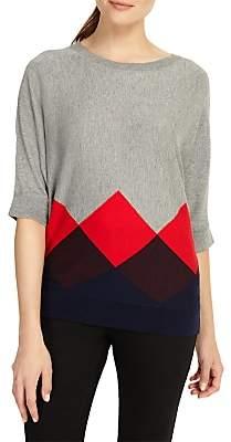 Phase Eight Angeletta Argyle Knitted Jumper, Multicoloured
