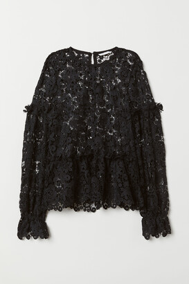 H&M Embroidered lace blouse