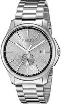 Gucci YA126320 Men's Timeless Wrist Watches, Dial, Band