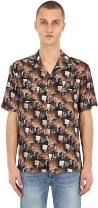 Triple Rrr Printed Viscose Shirt