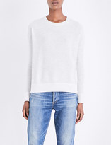 The White Company Glitter-detail wool-blend knitted jumper