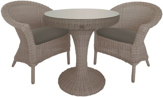 4 Seasons Outdoor Valentine Garden Bistro Table and Chairs Set