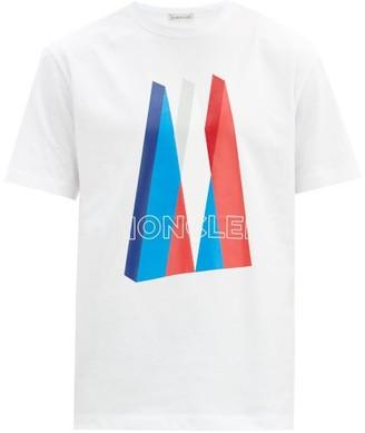 Moncler Logo-print Cotton-jersey T-shirt - White