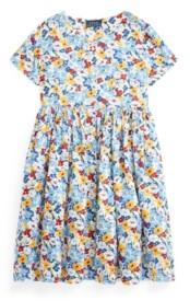 Polo Ralph Lauren Big Girls Floral Empire-Waist Dress
