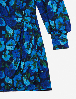 The Kooples Floral-print crepe mini dress