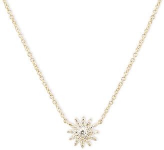 AUGUST & JUNE Single Starburst Pendant Necklace