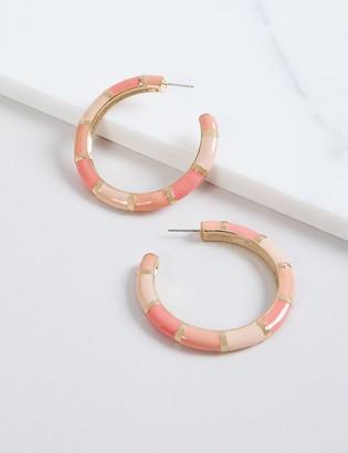 Lane Bryant Enamel Hoop Earrings