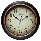 """Infinity Instruments Hanover 12"""" Round Wall Clock Black/Rose Gold"""