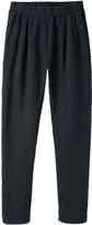 Black Crane / quilt pant