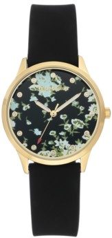Juicy Couture Woman's Juicy Couture, 1074FLBK Silicon Strap Watch