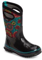 Bogs Toddler Girl's Classic Pansies Waterproof Rain Boot