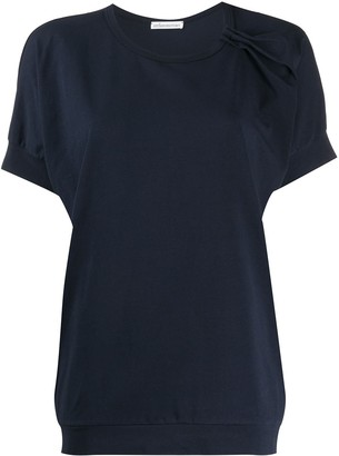 Stefano Mortari Ruched Detail Short Sleeve Top