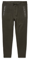 Polo Ralph Lauren Tapered Shell-Trimmed Birdseye Cotton-Blend Sweatpants
