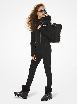 MICHAEL Michael Kors MK Faux Fur-Trim Ski Suit - Black - Michael Kors