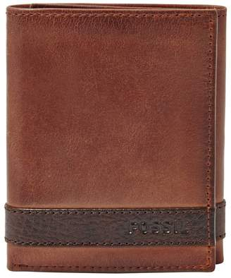 Fossil Quinn Trifold Leather Wallet