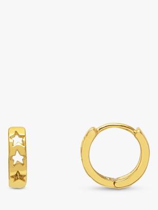 Estella Bartlett Cut Out Star Huggie Hoop Earrings, Gold