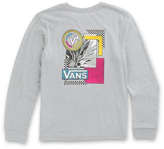 Vans Girls Collage Graduate Long Sleeve Boyfriend Tee