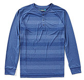 Roundtree & Yorke Performance Long-Sleeve Stripe Henley