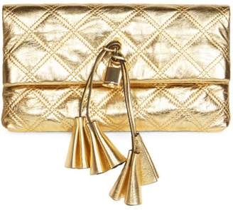 Marc Jacobs The Metallic Leather Clutch