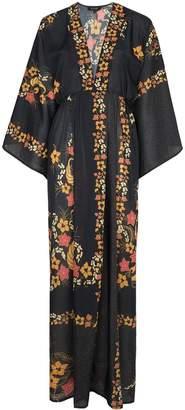 Celia Dragouni Floral print kimono sleeve maxi dress
