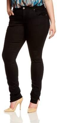 Zizzi Women's Sanna Jeans, Schwarz (Black 198)