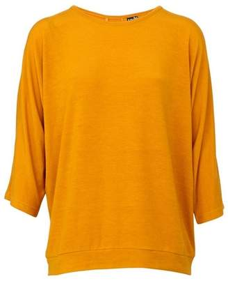 Dorothy Perkins Womens *Izabel London Mustard Button Detail Top, Mustard