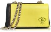 Emilio Pucci Chartreuse Leather Shoulder Bag w/Chain Strap
