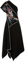 Diane von Furstenberg One Shoulder Ottoman Dress