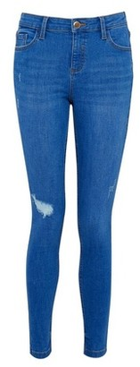 Dorothy Perkins Womens Bright Blue Rip 'Darcy' Denim Jeans With Organic Cotton, Blue