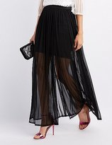 Charlotte Russe Tulle Overlay Maxi Skirt