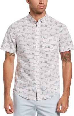 Original Penguin Print Short Sleeve Button-Down Shirt