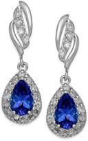 Macy's Tanzanite (3/4 ct. t.w.) and Diamond (1/3 ct. t.w.) Drop Earrings in 14k White Gold