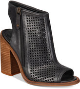 Kelsi Dagger Brooklyn Mason Perforated Block-Heel Sandals
